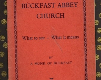 BUCKFAST BENEDICTINE ABBEY vintage original 1939 guide book plus antique postcard of Our Lady of Buckfast ***Free postage to Uk/Eire***