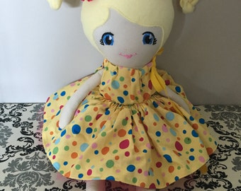 Fabric Doll, Cloth Doll, Soft Doll