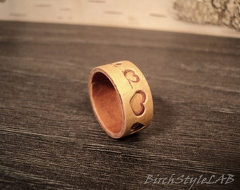 Exotic Birch Bark Ring,Natural wooden ring,Valentine's Day gift