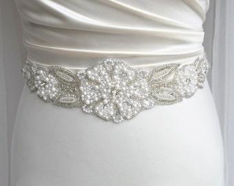 Pearl Bridal sash, wedding sash, pearl bridal belt, bridal belt, wedding dress belt,wedding sashes and belts, wedding belts,bridal sash belt