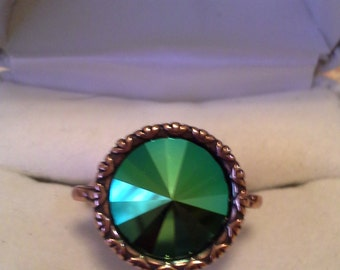 Vintage Inspired Crystal Rivoli Ring R-109