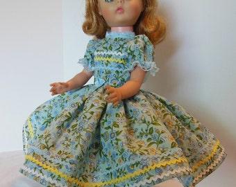 "Blue Ric Rac Floral Dress Set for 14"" Vogue Miss Ginny Dolls"