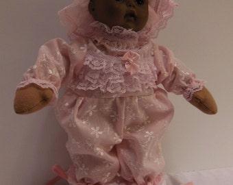"""Pink Embroidered Jumper Set for 12"""" Madame Alexander Soft Body Little Huggums Dolls"""