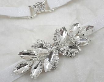 Bridal Belt Sash, Skinny Rhinestone Belt,Thin Bridal Sash, Rhinestone Wedding Belt, Silver Rhinestone Belt, Best Friend Bridal 230S