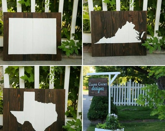 21x17 Wood State Wall Art -Texas Silhouette