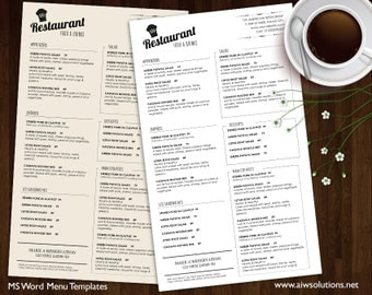 Food Menu Templates, Printable Restaurant Menu Template, Wedding Menu Template, Food Menu Template,DIY bar menu template ,bar menu template
