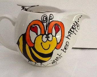 Bee happy teapot