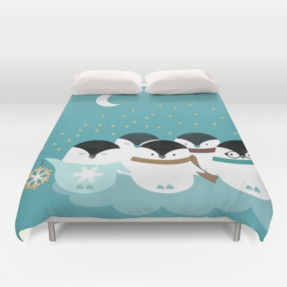 Penguin Duvet Cover Animals Personalized Color Double