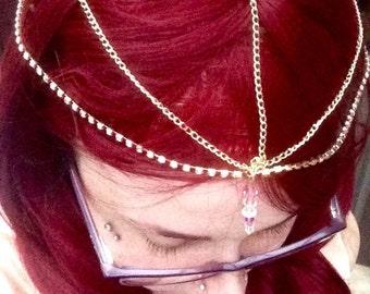 Swarovski Crystal Head and Hair Jewelry