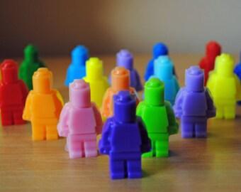 24 Minifigure Soap - Party favor, kid soap, nerdy soap, geek soap