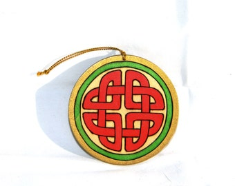 Ornament - Celtic Knot Red