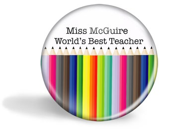 Teacher Magnet Personalised Pencils 5.7cm (2.25 inches)