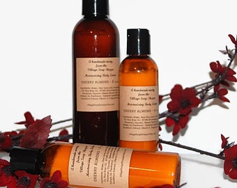 Cherry Almond Body Lotion, Aloe Body Lotion, Vitamin E Body Lotion, Hand Lotion, Moisturizing Lotion, Body Lotion, CHERRY ALMOND LOTION