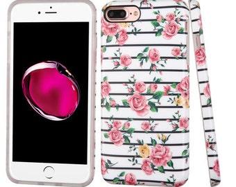 Pink Roses iPhone 7 Plus / 8 Plus TPU Gel Design Case