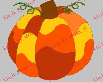 Mosaic Pumpkin Patch Applique