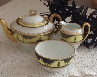 Charming Czech Slovakia Pheonix Tea set for one.