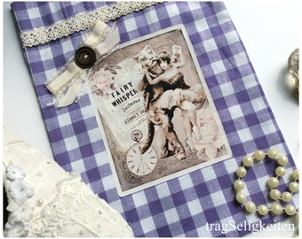Purple ballet bag, ballet tote, dance bag, dance tote,  ballerina bag, ballerina tote, vintage ballerina graphic, dance gift bag, gingham
