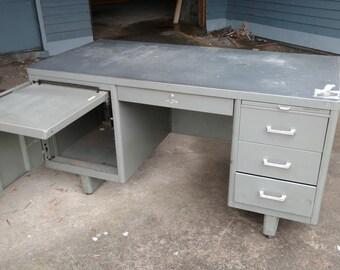 Steel Globe-Wernicke Madmen Style Desk