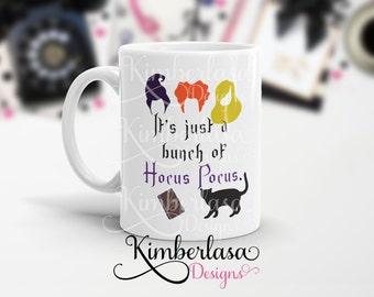hocus pocus mug | book mug | witch mug | halloween mug | sanderson sister | winifred | winnie | sarcastic mu