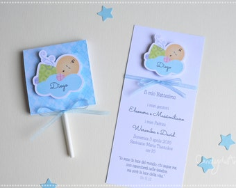 Lollipop Favors baptism and 30 Tickets 30-kid-Angel-trick
