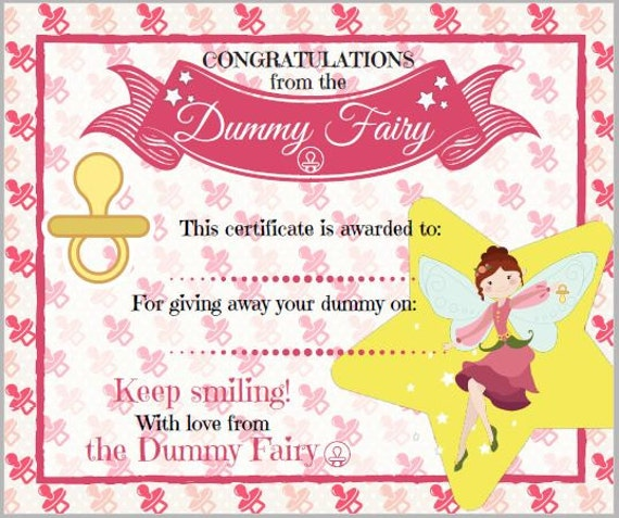 Certificate from the Dummy Fairy