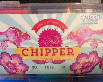 Tula Pink CHIPPER Aurifil Thread Collection 50 wt Lg Spools 100% Egyptian Cotton