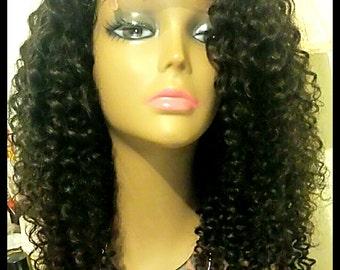 Curly Hair Wigs, Human hair Wigs, Natural Hair Wigs, Lace Closure Wigs, Deep Curly Hair Wigs - Sally