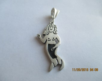 Mermaid Pendant..Sterling Silver..New..Taxco