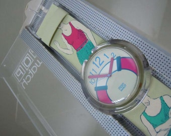 Pop Swatch Watch The Life Saver original box and price tag from 1993 New Old Stock Never Worn