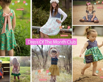 Dress Of The Month Club, Surprise Clothing Box, Dress Subscription, Baby Shower Gift, Birthday Gift