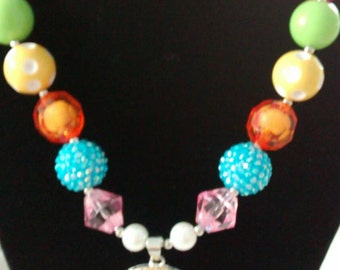 Easter chick chunky necklace