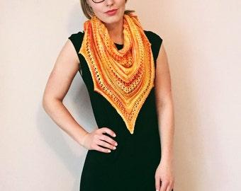 Merino Wool Shawl // Merino Triangle Scarf
