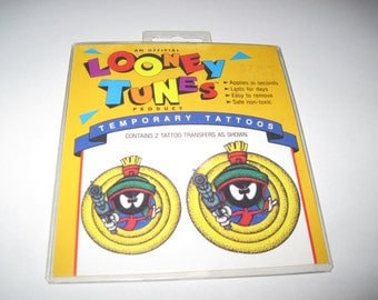 1992 Looney Tunes Marvin the Martian Temporary Tattoos
