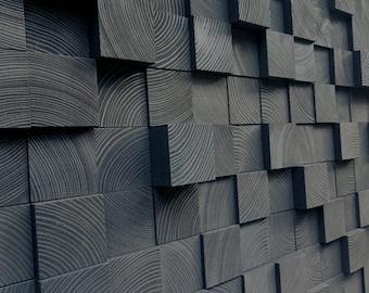 Wood Wall Art - Queen Headbord - Wood Mosaic