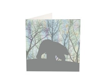 Northern Lights Polar Bear  (blank inside)