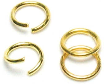 Jewelry Basics Gold Metal Jump Rings 300/Pkg Size 6mm
