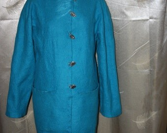 Felted coat,felted jacket,felted trench, spring coat, summer coat, OOAK