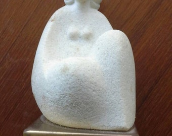 Marbell  Stone Art of Belgium Stone Sculpture with brass base