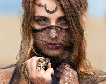 Medieval Renaissance Celtic eleven tiara Hobbit Crown headband tiara headpieces Moon gothic