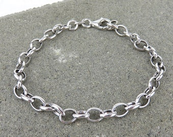 Silver Charm Link Bracelet - Also in Rose Gold