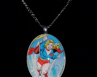 DC Superman Super-Girl Large Pendant