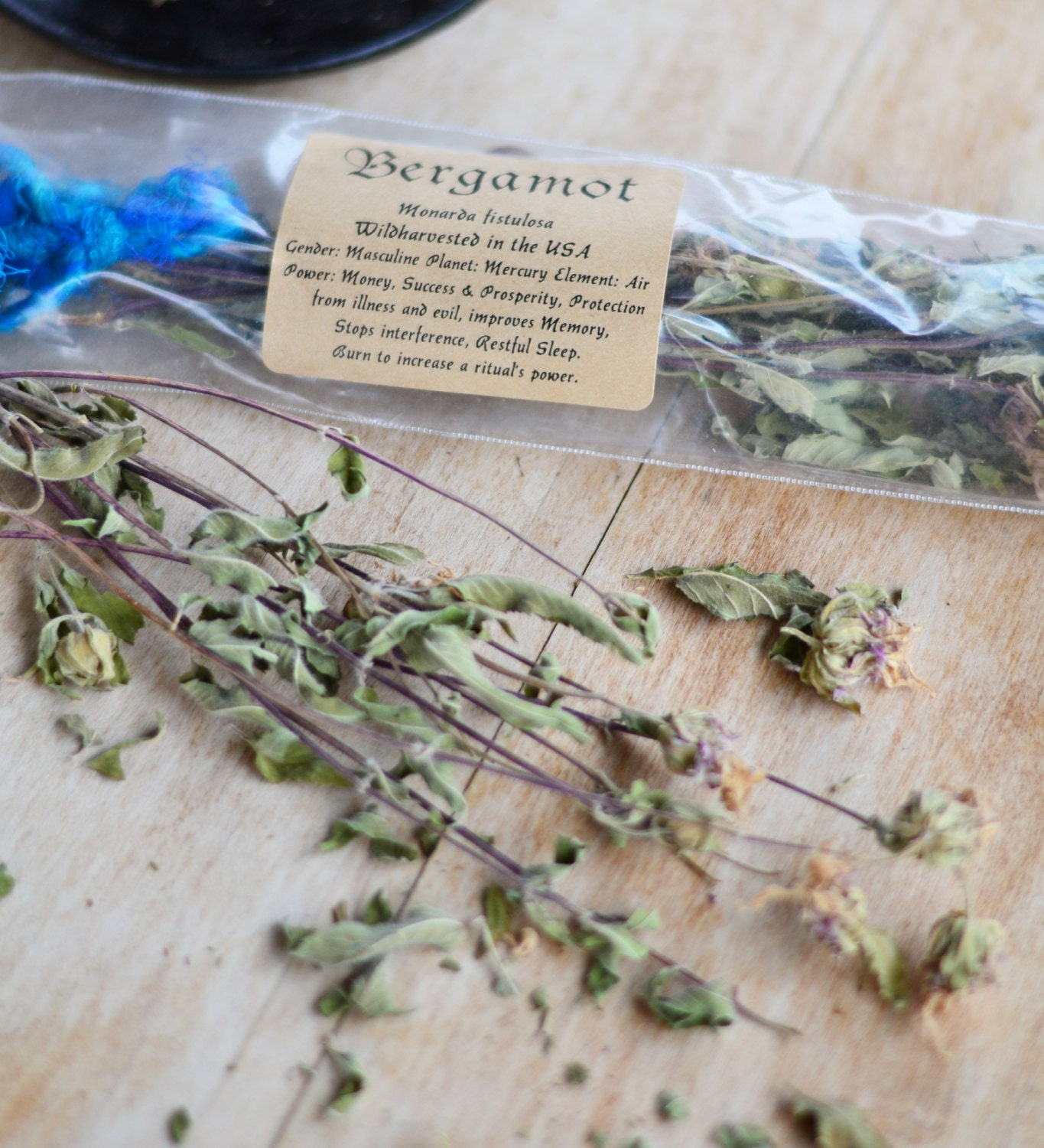 BERGAMOT HERB WILDCRAFTED witch herbs wiccan herbs dried
