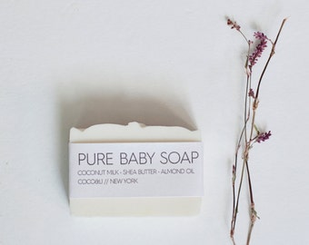 Baby Soap with Coconut Milk // Cold Process // Vegan