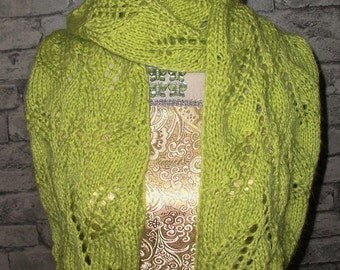 Hand Knitted Angora Scarf