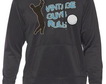 Vintage Guys Rule Play Golf Hoodie. All Sizes