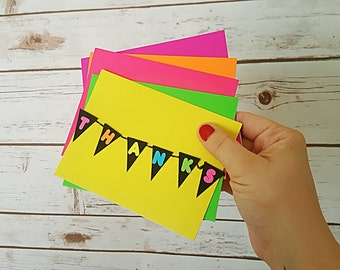 Fluorescent Thanks Card