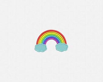 Rainbow Machine Embroidery Design - 3 Sizes