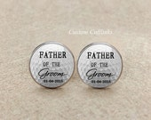 Father of the groom Cufflinks, wedding Cufflinks, mens cufflink, mens accessory , groom cufflinks, mens jewelry tie clips, custom date cuff