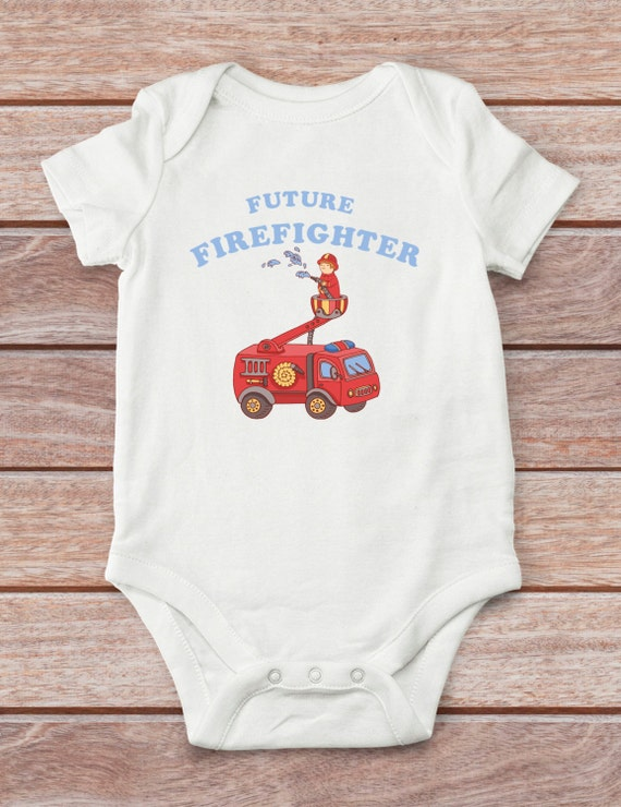 Firefighter bodysuit baby boy clothes cute baby bodysuit