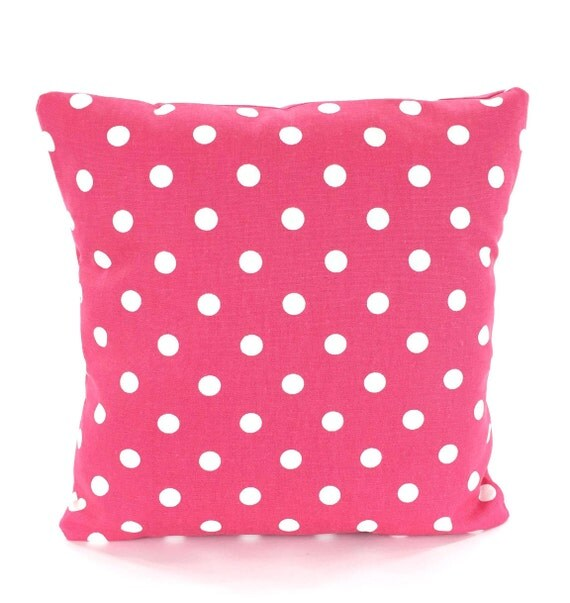 Pink Decorative Pillow Covers : Pink Polka Dot Pillow Covers Decorative Throw Pillows